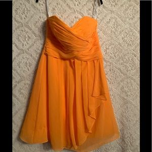Orange David's bridal dress